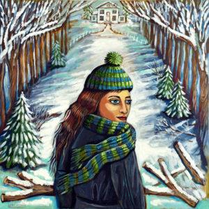 Winter Path, Acrylic on Canvas