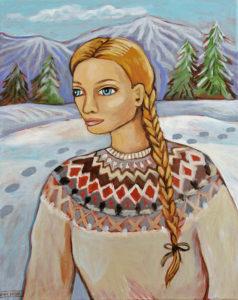 Winter Sweater, Acrylic on Canvas