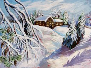 Winter Wonderland, Acrylic on Canvas
