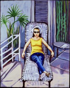 Woman With Sunglasses, Acrylic on Canvas