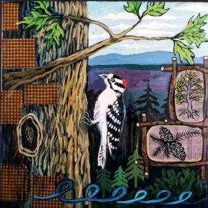 Woodpecker, Acrylic on Canvas